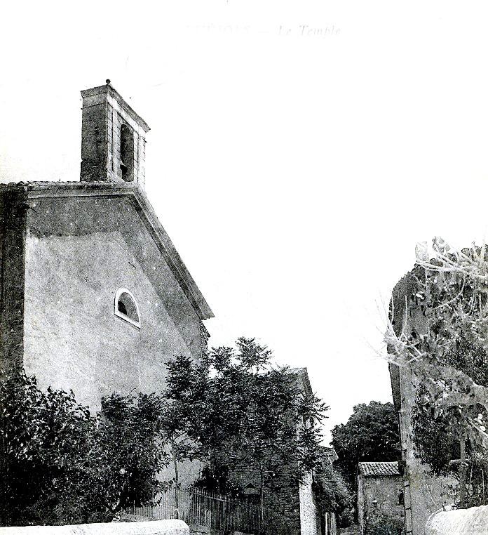PATRIMOINE PROTESTANT photo-ancienne-du-temple-protestant-de-saint-jean-de-maruejols